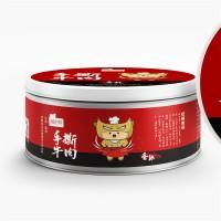 湘老蔡 香辣手撕牛肉100g 新晃特产 厂家直销 休闲罐装 牛肉片