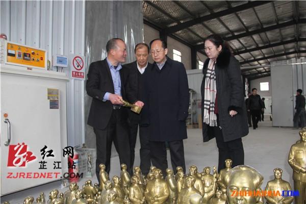 省委宣传部副部长杨金鸢考察我县文化产业项目